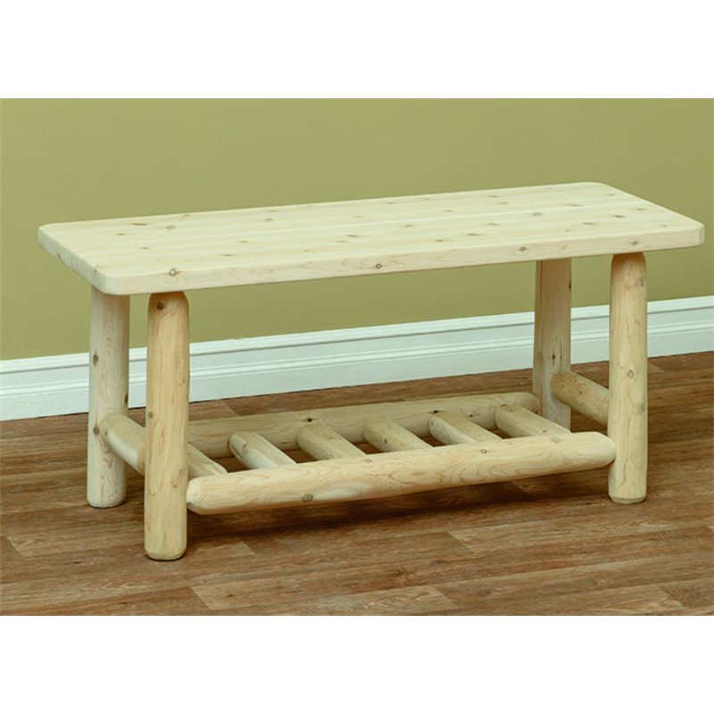 white cedar adirondack coffee table countryside. Black Bedroom Furniture Sets. Home Design Ideas