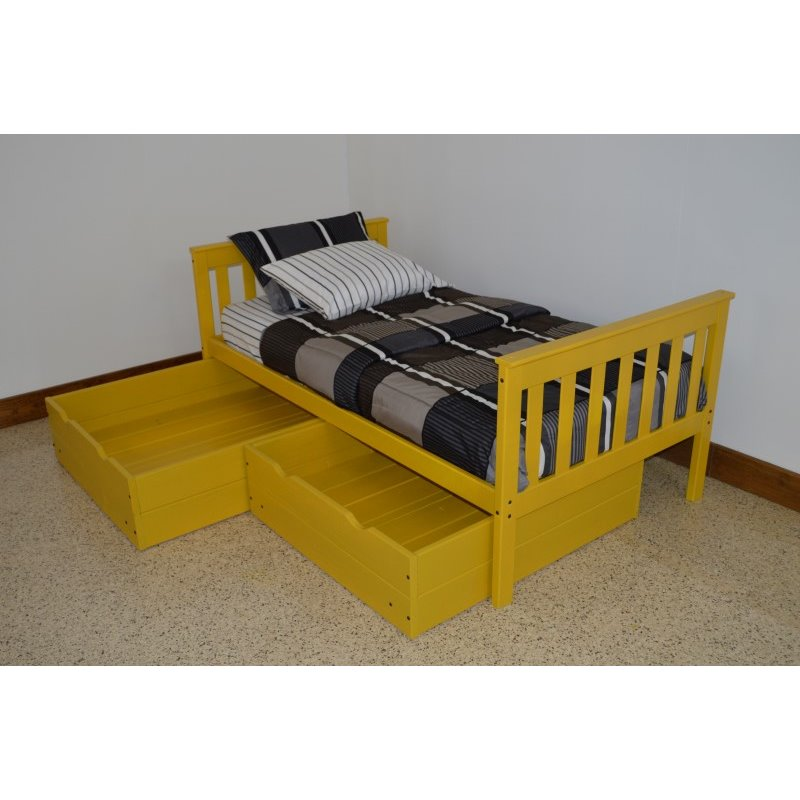 pine mission twin bed