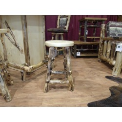 "Rustic Aspen Log 30"" Bar Stool"