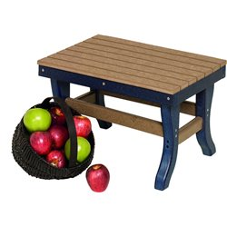 Poly Lumber Stationary Ottoman - 18 Standard Colors