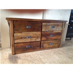 Rustic Natural Reclaimed Barn Wood 6-Drawer Dresser
