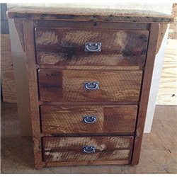 Rustic Natural Reclaimed Barn Wood 4-Drawer Dresser/Chest