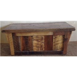 Rustic Natural Reclaimed Barn Wood Blanket Chest