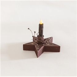 Primitive Decorative Chunky Rustic Star with Candle