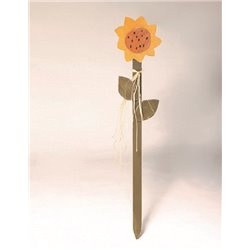 Primitive Decorative Sunflower Yard Garden Plant Stake