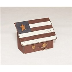 Primitive Decorative Red, White, & Blue American Flag Bird House