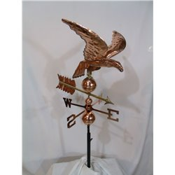 Outdoor Copper Goose Weathervane - Polished Finish