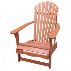 Solid Acacia Adirondack Chair - Natural Oiled