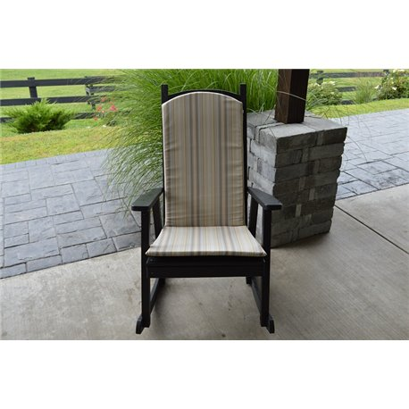 Porch Rocker - 1 Inch Thick Seat & Back Cushions