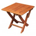 Solid Acacia Cross-Leg End / Accent / Side Table