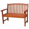 Solid Acacia 4' Slat-Back style Garden Bench