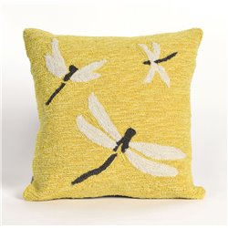 Dragonflies on Warm Yellow