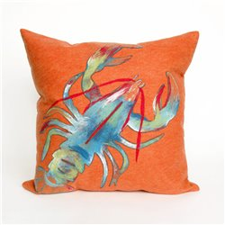 Blue and Green Lobster on Orange