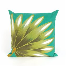 Palm Fan Pillow - 3 Background Color Choices