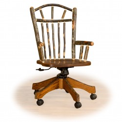 Rustic Hickory / Oak Adjustable Office Chair in Medium Stain