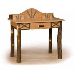 Rustic Hickory Writing Desk