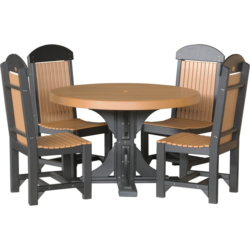 Amish pub table chairs set bar height high dining stools for Round pub table and chairs
