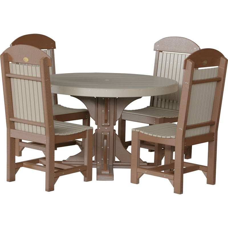 Poly 4 39 round table chairs for Round pub table and chairs