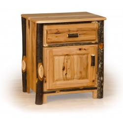 Rustic Oak / Hickory Nightstand - 1 Drawer and Door