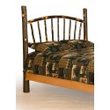 Rustic Hickory Bed - Sunburst - Headboard Only - Twin / Full / Queen / King