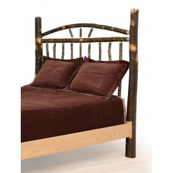 Rustic Hickory Bed - Wagon Wheel - Headboard Only - Twin / Full / Queen / King