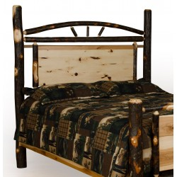 Rustic Hickory Panel Headboard Only - Twin / Full / Queen / King