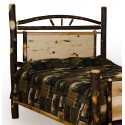 Rustic Hickory Panel Bed - Headboard Only - Twin / Full / Queen / King