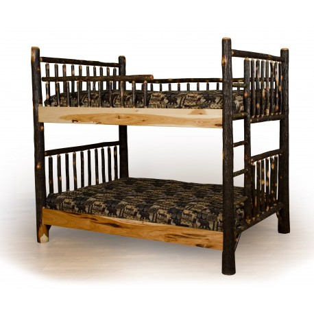 Rustic Hickory Bunk Bed Set