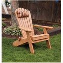 Folding / Reclining Poly Fanback Adirondack Chair w/ Pull-out Ottoman