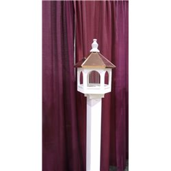 Polished Copper Top Bird Feeder - 21 inches TALL