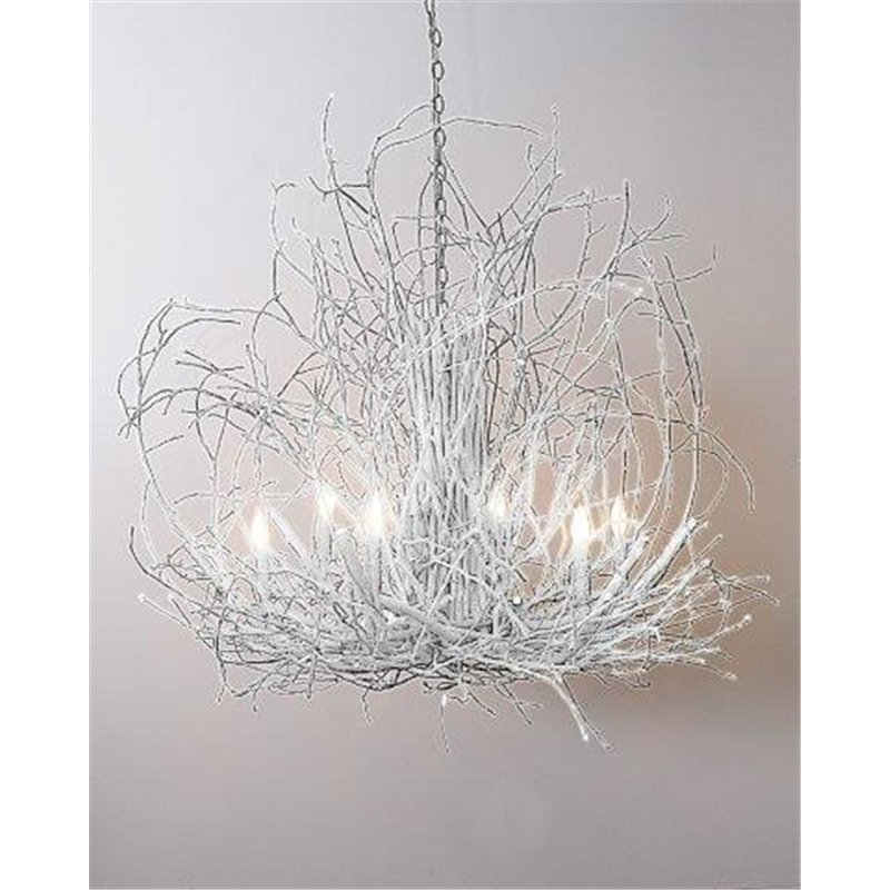White Twig Chandelier Musethecollective Photo Gallery