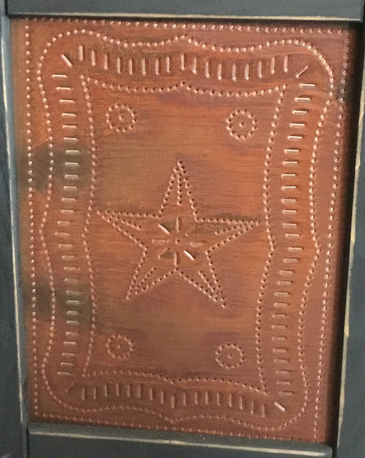Federal Star in Rustic Red