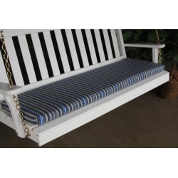 4' Bench / Porch Swing / Glider Outdoor Cushion - Blue Stripe