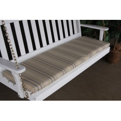 4' Bench / Porch Swing / Glider Outdoor Cushion - Beige Stripe