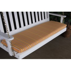 4' Bench / Porch Swing / Glider Outdoor Cushion - Orange Stripe
