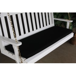 4' Bench / Porch Swing / Glider Outdoor Cushion - Black