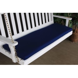 4' Bench / Porch Swing / Glider Outdoor Cushion - Navy Blue