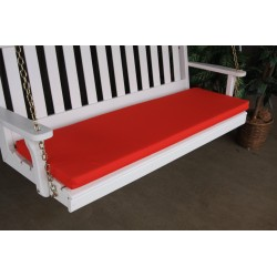 4' Bench / Porch Swing / Glider Outdoor Cushion - Red