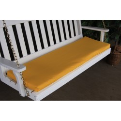 4' Bench / Porch Swing / Glider Outdoor Cushion - Yellow