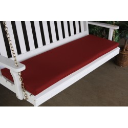 4' Bench / Porch Swing / Glider Outdoor Cushion - Burgundy