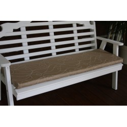 4' Bench / Porch Swing / Glider Outdoor Cushion - Tan Swirl