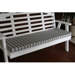 4' Bench / Porch Swing / Glider Outdoor Cushion - Gray Stripe