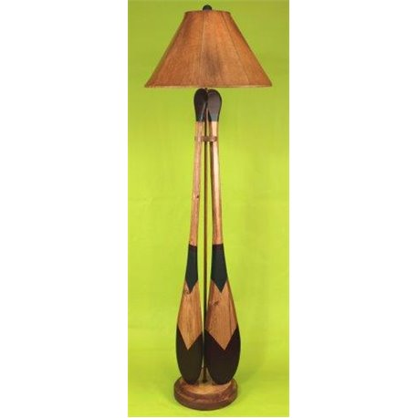2 Paddle Floor Lamp with with Round base