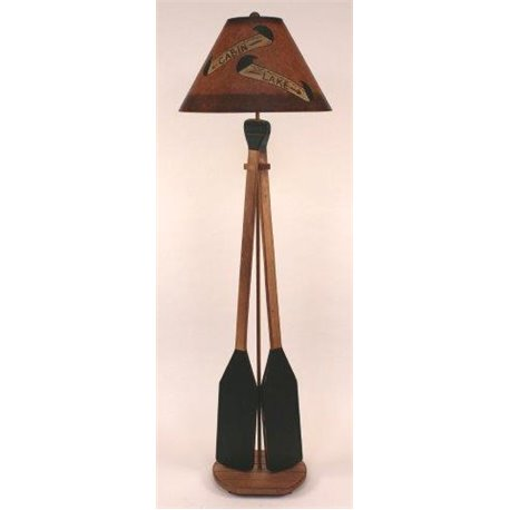 2 Paddle Floor Lamp with Round Base