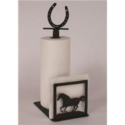 Wrought Iron Running Horse Paper Towel / Napkin Holders