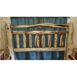 RUSTIC RED CEDAR LOG - MISSION STYLE -*HEADBOARD ONLY*