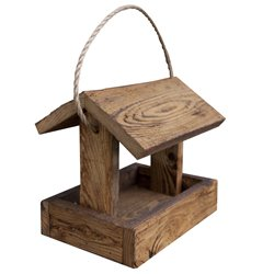 Hanging Rustic Barnwood Bird Feeder