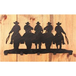 Wrought Iron Western Collection - Wall Mounted Cowboy Coat Hook