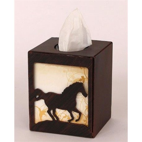 Wrought Iron Running Horse Collection - Tissue Box Covers