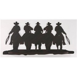 Wrought Iron Wall Mounted Cowboy Towel Bar